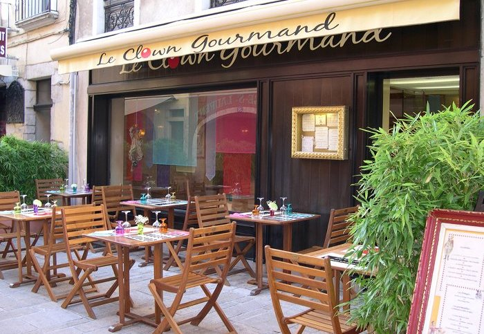 La terrasse du Clown Gourmand